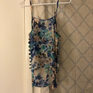 LF High Low Floral Top